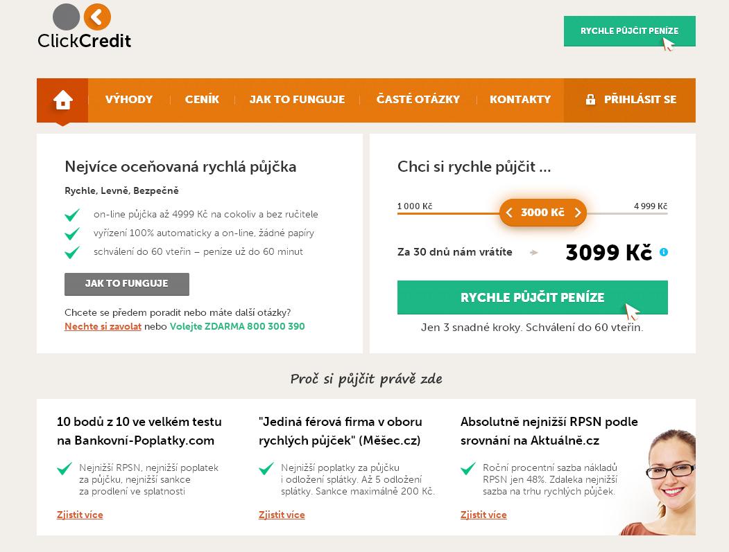Click Credit půjčka - online půjčka do.do 60 vteřin